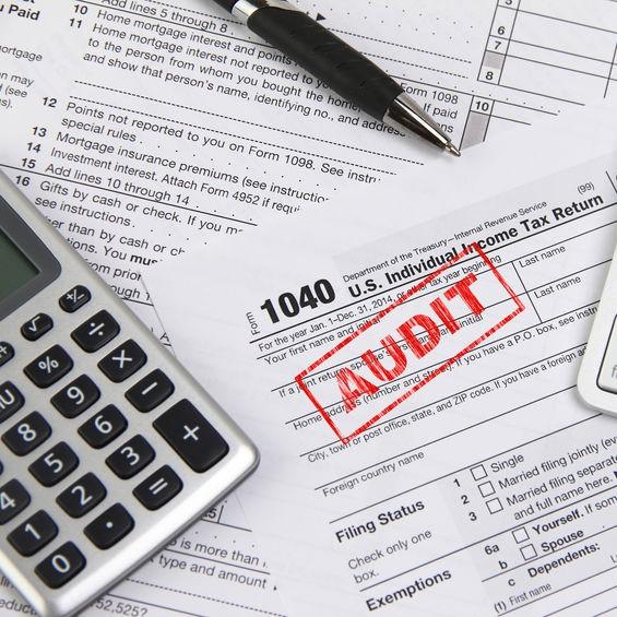 IRS audit paperwork