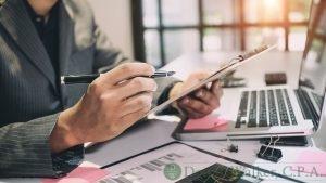 A Bookkeeper Making a Financial Plan.