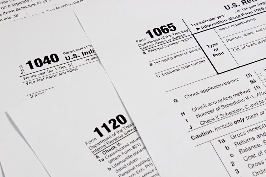 Stack of Tax Forms to Prevent IRS Seizure